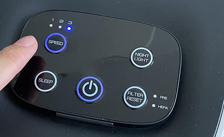 MOOSOO Air Purifier buttons review